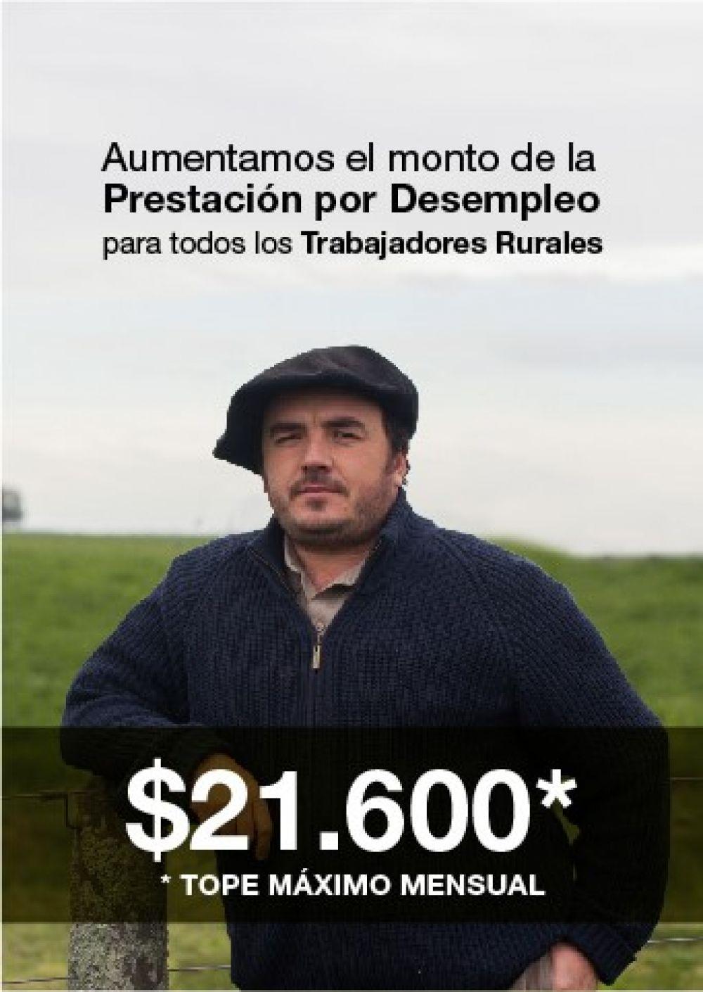 El RENATRE aumenta la Prestación por Desempleo a $21.600