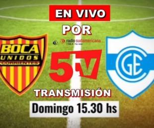 foto: Boca Unidos recibe a Gimnasia y Esgrima: Vivilo por Sudamericana y 5TV