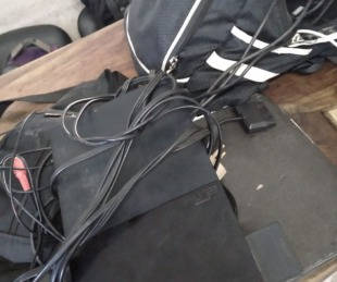 foto: Robó una moto con una PlayStation en el baúl y lo detuvieron