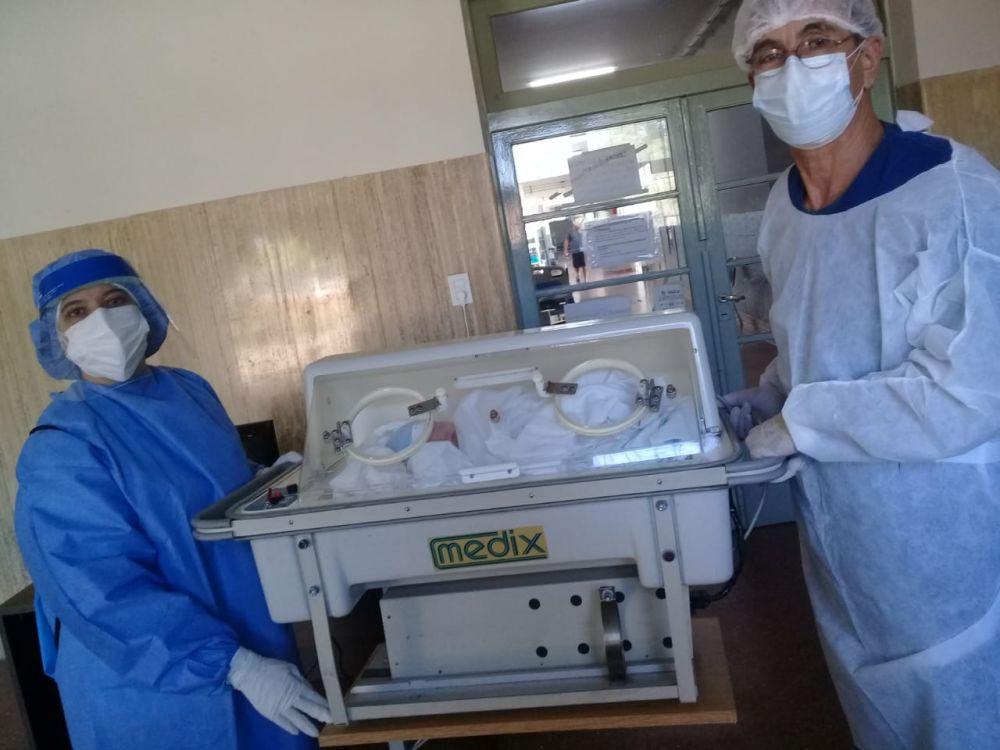 Un niño es el bebé número 43 nacido en el Hospital de Campaña