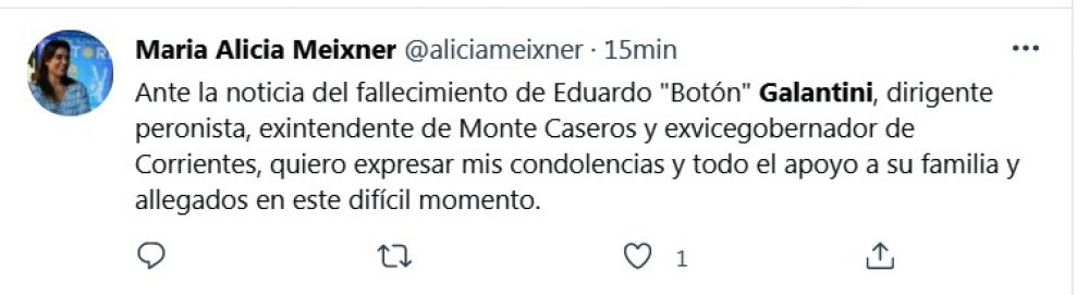 El mensaje de los políticos para despedir a Eduardo Galantini