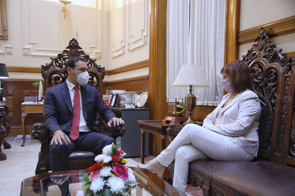 Valdés recibió la visita de la presidenta del PRO a nivel nacional