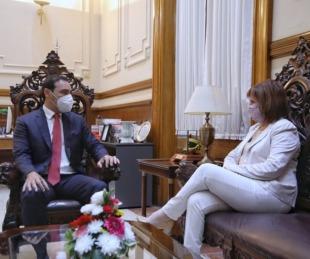 foto: Valdés recibió la visita de la presidenta del PRO a nivel nacional