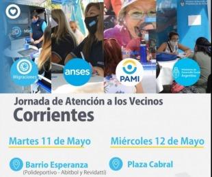 foto: Migraciones, Anses y Pami llegan al B° Esperanza y plaza Cabral