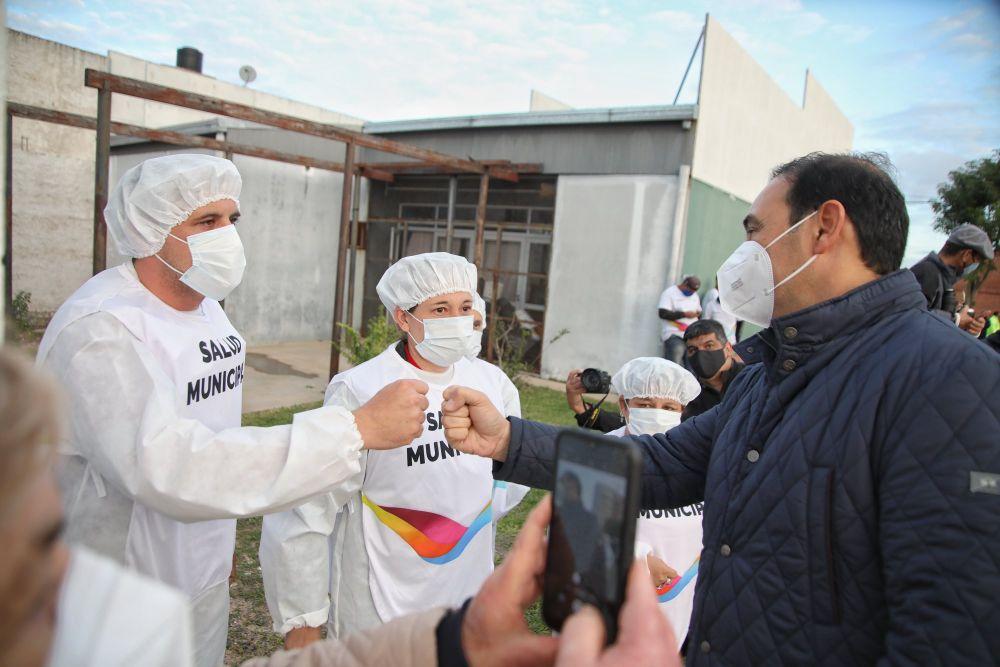 Valdés y Tassano inauguraron obras en el barrio Cichero
