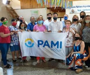 foto: PAMI aporta elementos de prevención contra el Covid para geriátricos