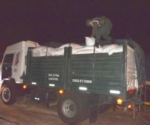 foto: Gendarmería decomisó 28.000 kilos de soja y 7.000 kilos de maíz