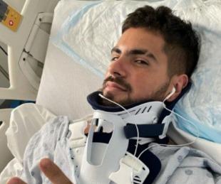 foto: El terrible accidente de auto que sufró Fer Vázquez con sus amigos