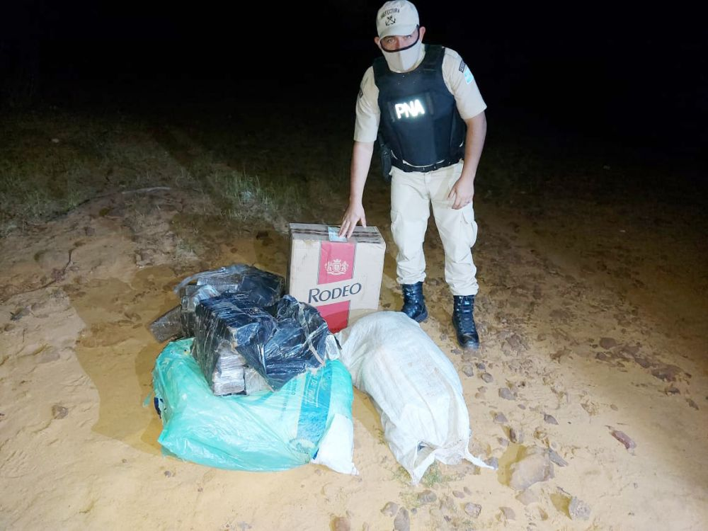 Incautaron más de 100 kilos de droga que pasaron desde Paraguay