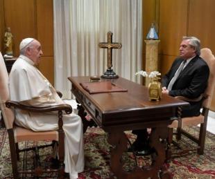 foto: El Presidente se reunió a solas con el papa Francisco en el Vaticano