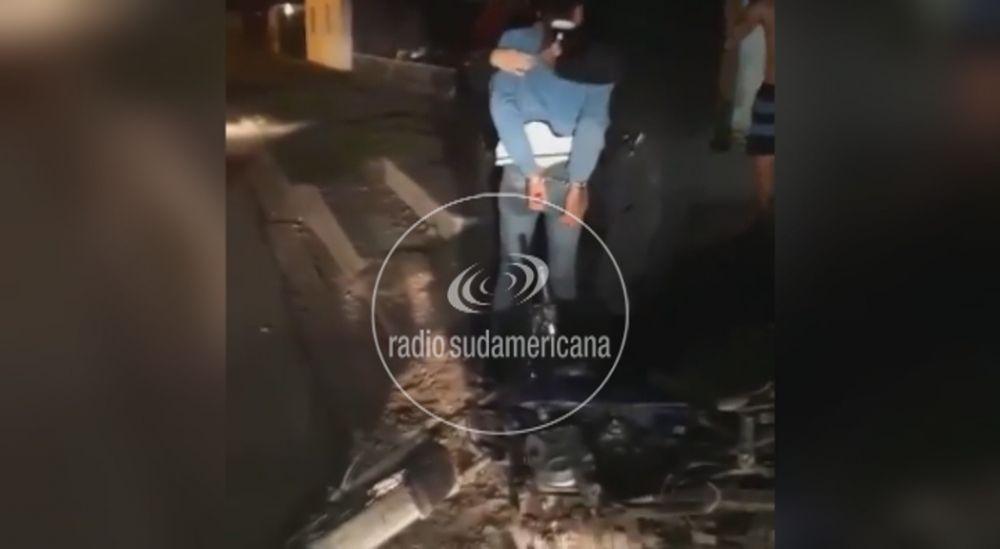 Video: Vecinos detuvieron a sujeto que robó una caja de herramientas