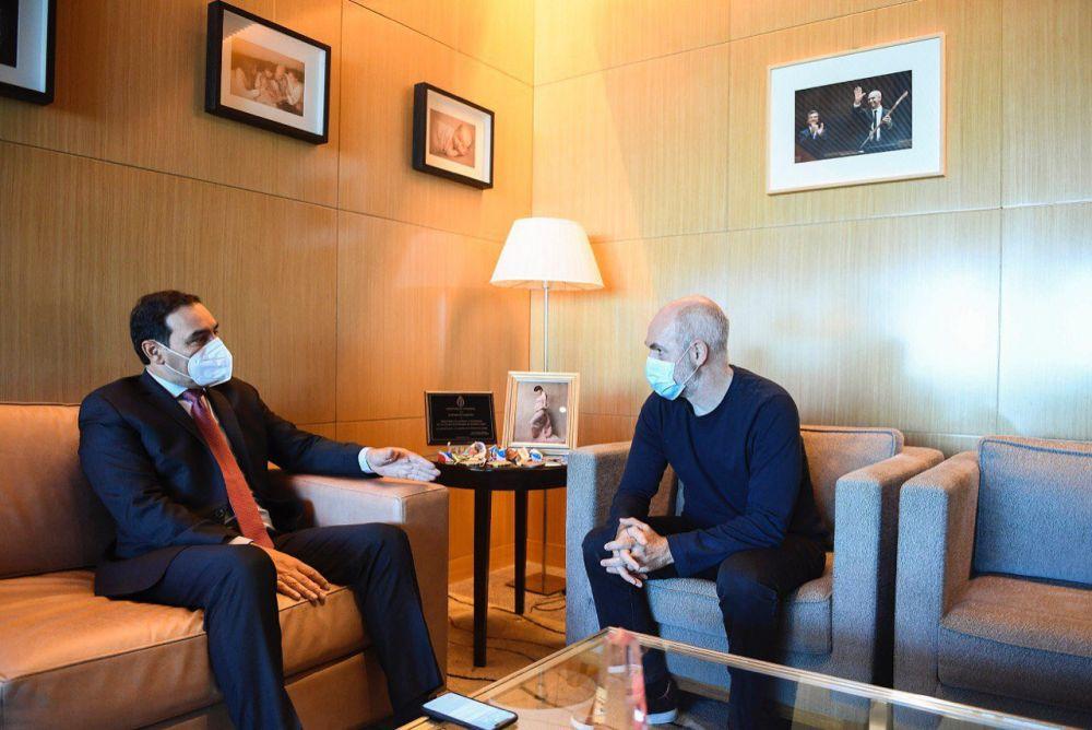 Valdés se reunió con Rodríguez Larreta en Buenos Aires