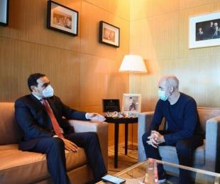 foto: Valdés se reunió con Rodríguez Larreta en Buenos Aires
