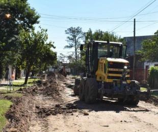 foto: Comenzó la pavimentación de la calle Reconquista desde Cartagena a Maipú