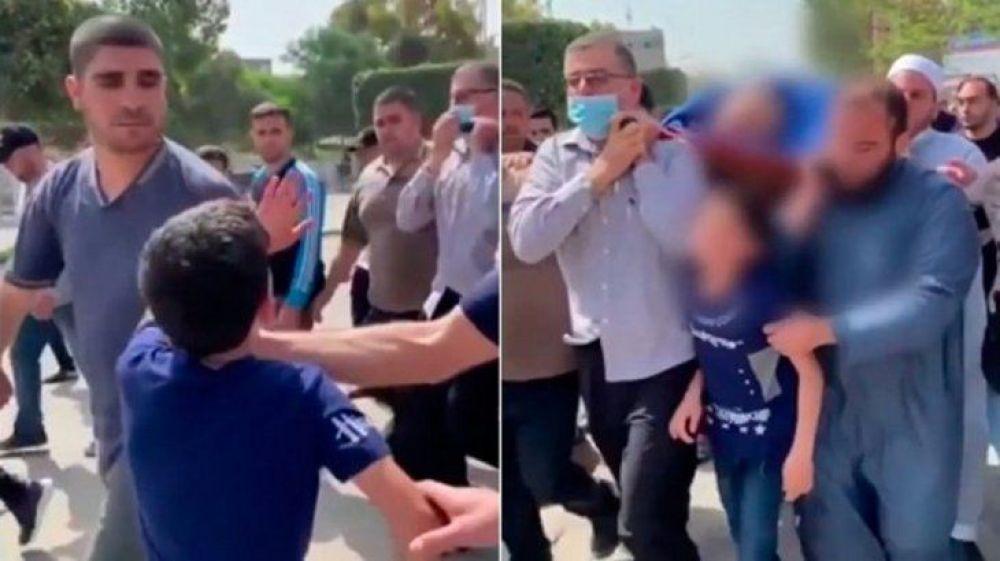 El viral más triste: nene palestino llora por la muerte de su papá