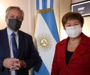 foto: Fernández mantuvo un encuentro con la titular del FMI
