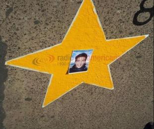 foto: Caso Rodrigo López: pintaron una estrella en donde murió el joven