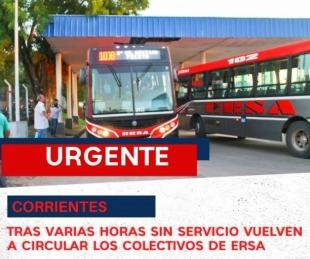 foto: Tras varias horas de conflicto, se normalizó el servicio de transporte