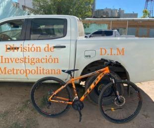 foto: La Policía recuperó una bicicleta de alta gama que había sido robada