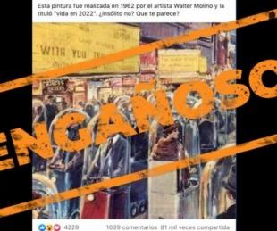 foto: Es engañosa la publicación con una ilustración del artista italiano