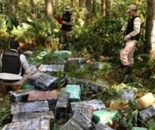 foto: Detectaron otra tonelada de marihuana en Misiones en 48 hs