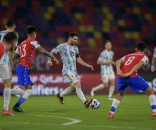 foto: Argentina fue más pero no pudo con Chile y terminaron empatados
