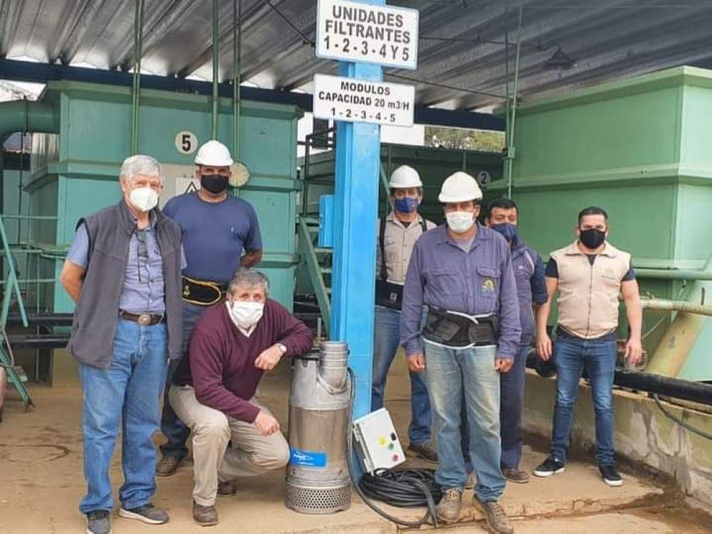 Osnaghi y Arcauz instalaron una bomba para mejorar el servicio en Paso