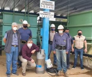 foto: Osnaghi y Arcauz instalaron una bomba para mejorar el servicio en Paso