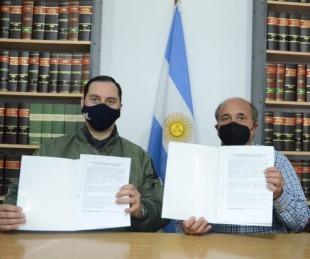 Caram firmó convenio para la instalación de radares de largo alcance