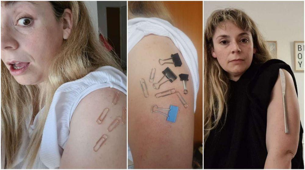 Mujer asegura que quedó imantada tras recibir la vacuna de AstraZeneca