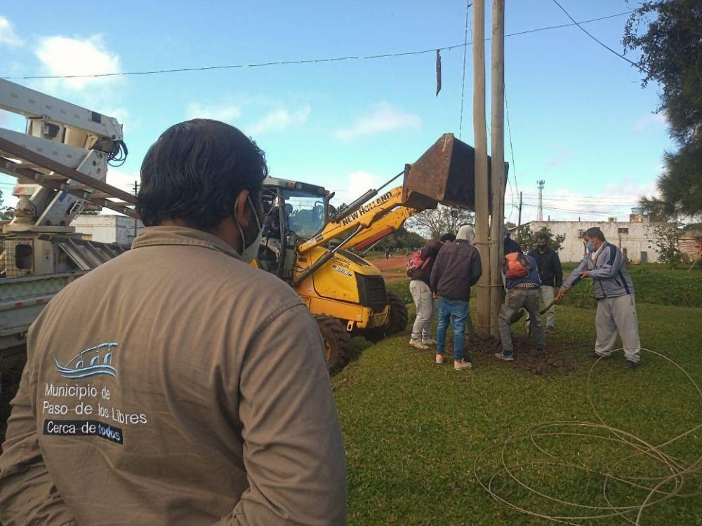 Libres realizó obras de recuperación y mejora del alumbrado público
