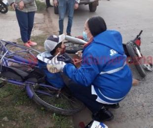 foto: Motociclista colisionó a ciclistas: habría estado alcoholizado