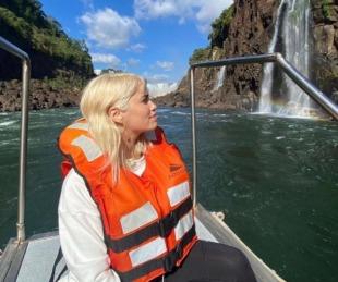 foto: Lali Espósito visitó las Cataratas del Iguazú, ¿acompañada?