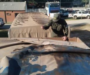 foto: Secuestran 112 toneladas de soja que eran trasladadas en camiones