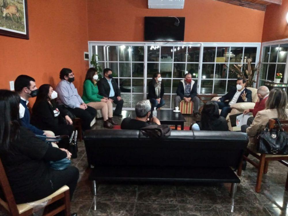 Valdés se reunió con el Foro de Educadores Radicales Correntinos