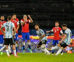 foto: Pese al golazo de Leo, Argentina empató con Chile