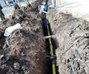 foto: Comenzaron los trabajos de conexión de gas natural en el interior