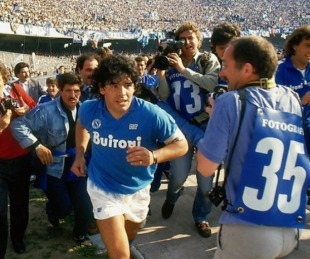 foto: Diego Maradona será protagonista de la serie del Napoli