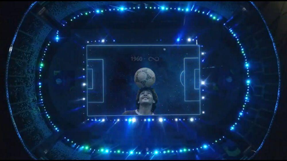 Conmebol realizó un tributo a Maradona en el partido entre Argentina