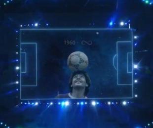 foto: Conmebol realizó un tributo a Maradona en el partido entre Argentina