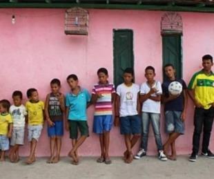foto: Tuvo 14 hijos varones y les puso el nombre de un jugador de fútbol