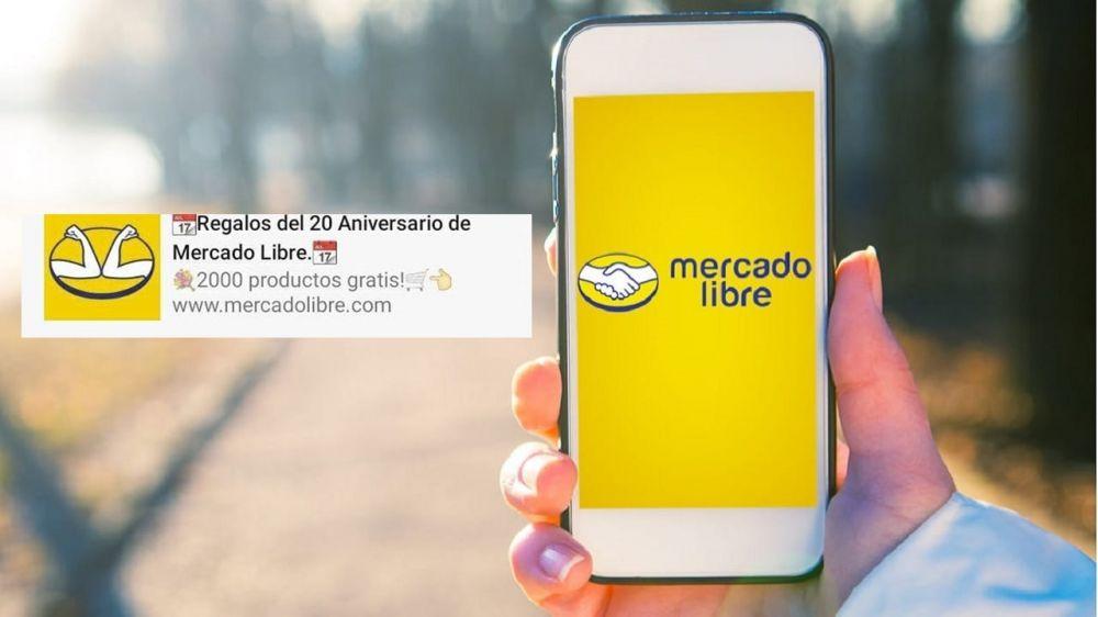 El falso mensaje de WhatsApp que ofrece regalos de Mercado Libre