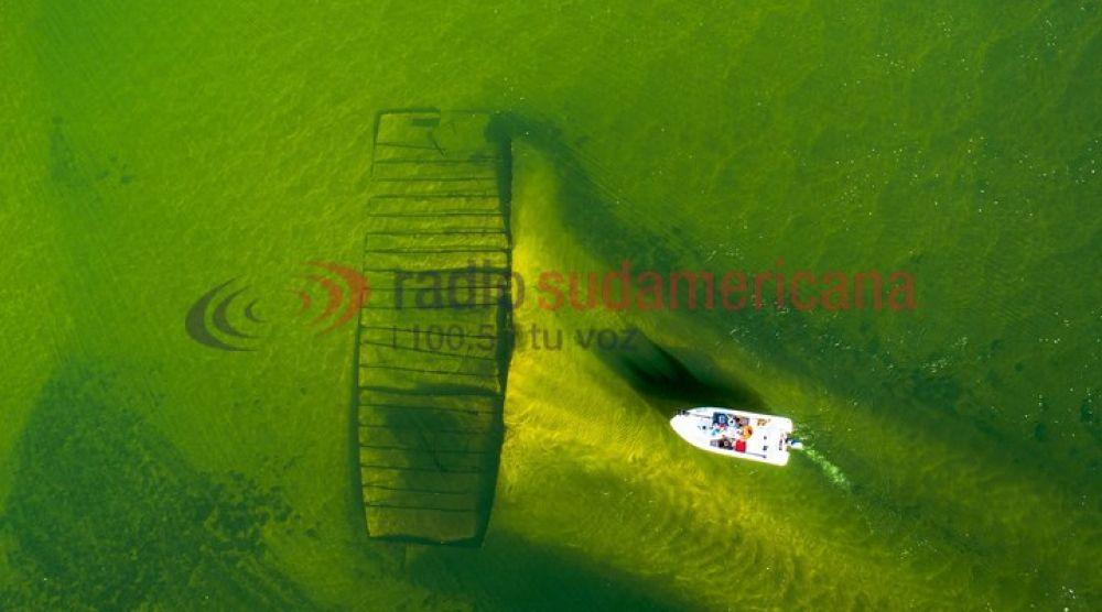 Impactante: En Itá Ibaté, pescador capturó en video un barco hundido