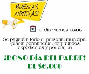 foto: Empleados municipales recibirán un bono especial por el día del padre
