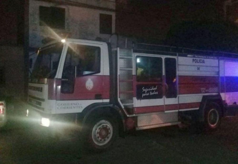 Se incendió una casa y dos chicos fueron llevados al Pediátrico