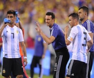 foto: Scaloni probó el 11 para el partido con Uruguay, con un cambio