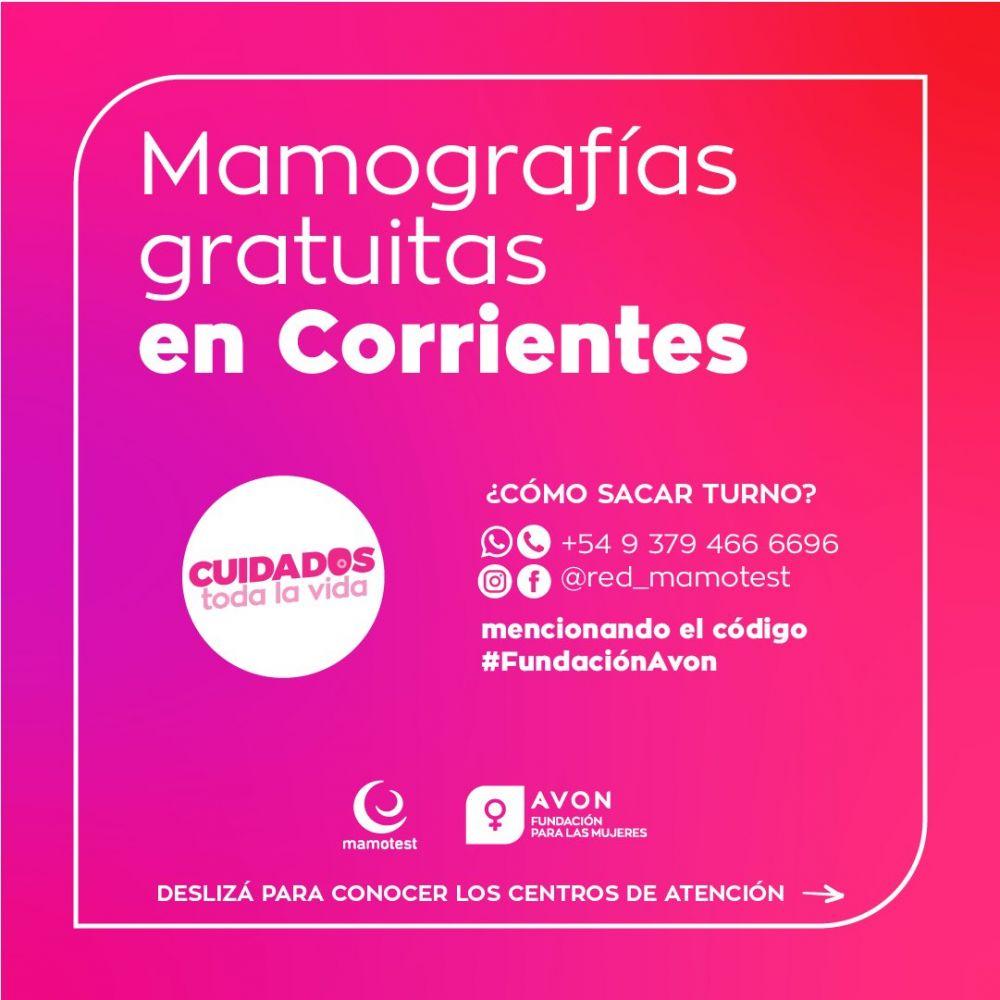 Realizan mamografías gratuitas en Corrientes y otras cuatro provincias
