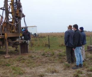 foto: Obra de instalación de radares: se comenzó con la perforación de agua