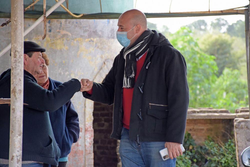 Martín Ascúa coordinó avance de obras en colectora de Av. Di Tomaso