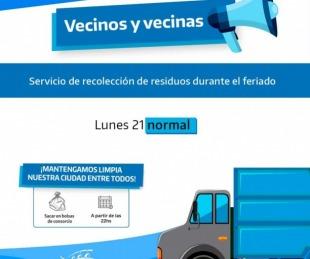 foto: Libres: será normal el servicio de recolección de residuos este lunes